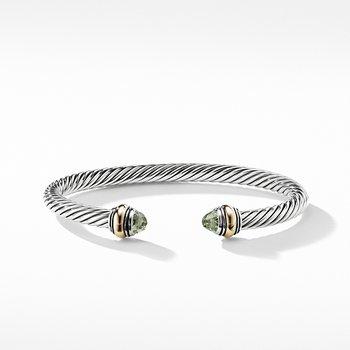 Cable Classic Bracelet Prasiolite