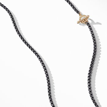 DY Bel Aire Chain Necklace in Black with 14K Gold Accents