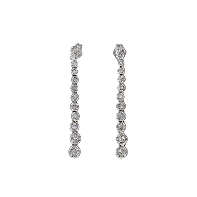 Estate Radcliffe Graduated Diamond Drop Earrings