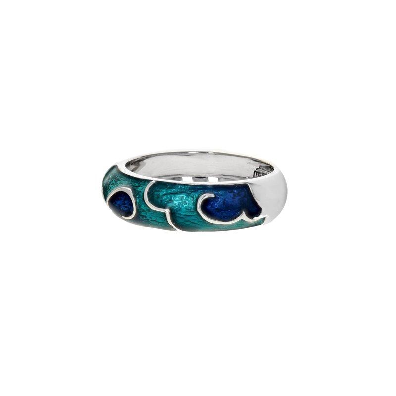 Estate Hidalgo Blue Enamel Cloud Ring