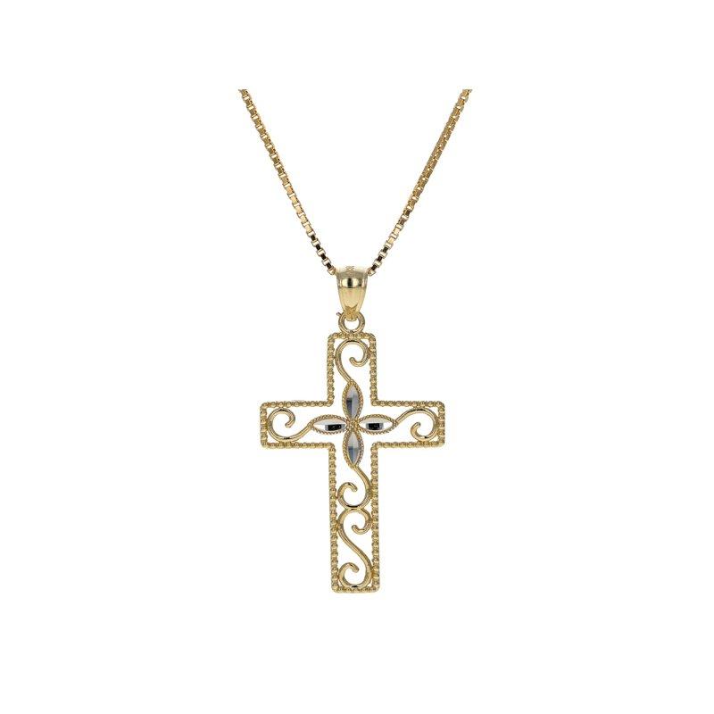 Estate Radcliffe Cross Filigree Necklace