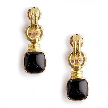 Black Jade Drop Earrings