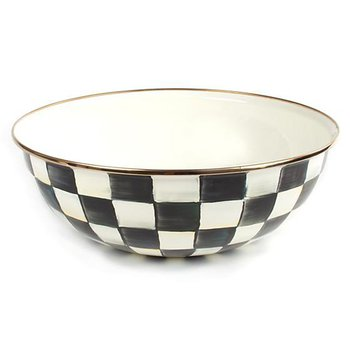 Courtly Check Enamel Everday Bowl-Extra Large
