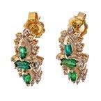 Estate Radcliffe Diamond & Emerald Drop Earrings