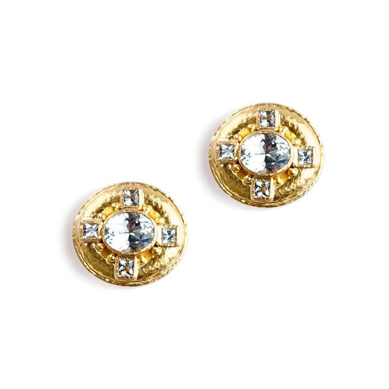 Elizabeth Locke Aquamarine Earrings