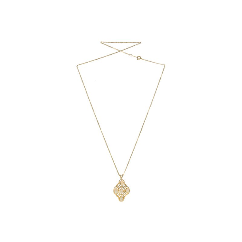Estate Radcliffe Diamond Shaped Opal Necklace
