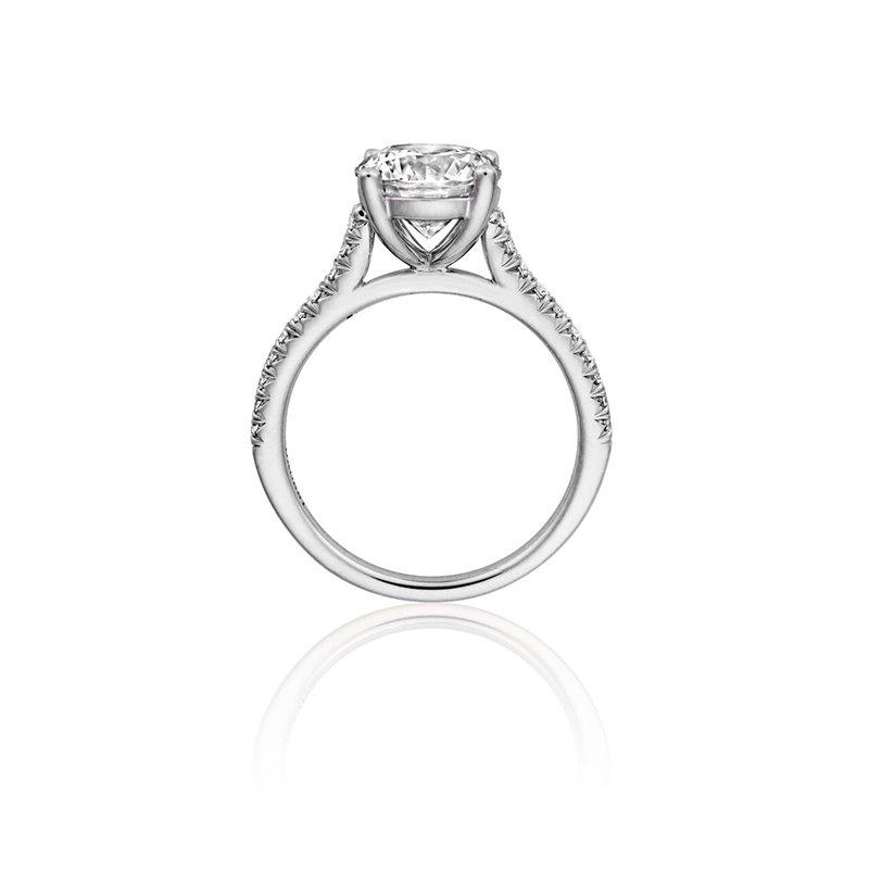 Henri Daussi Vintage Style Engagement Ring Mounting