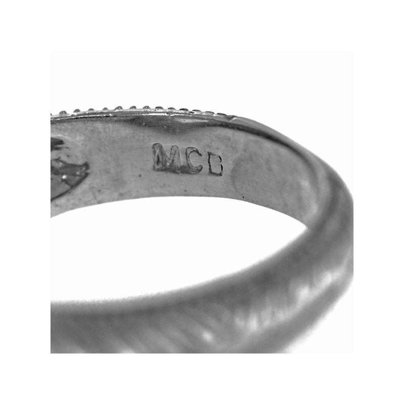 Estate Radcliffe Smoky Quartz and Diamond Ring