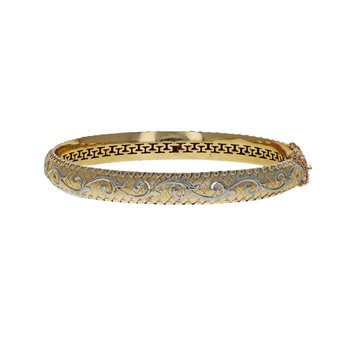Hollow Vine Motif Bangle Bracelet