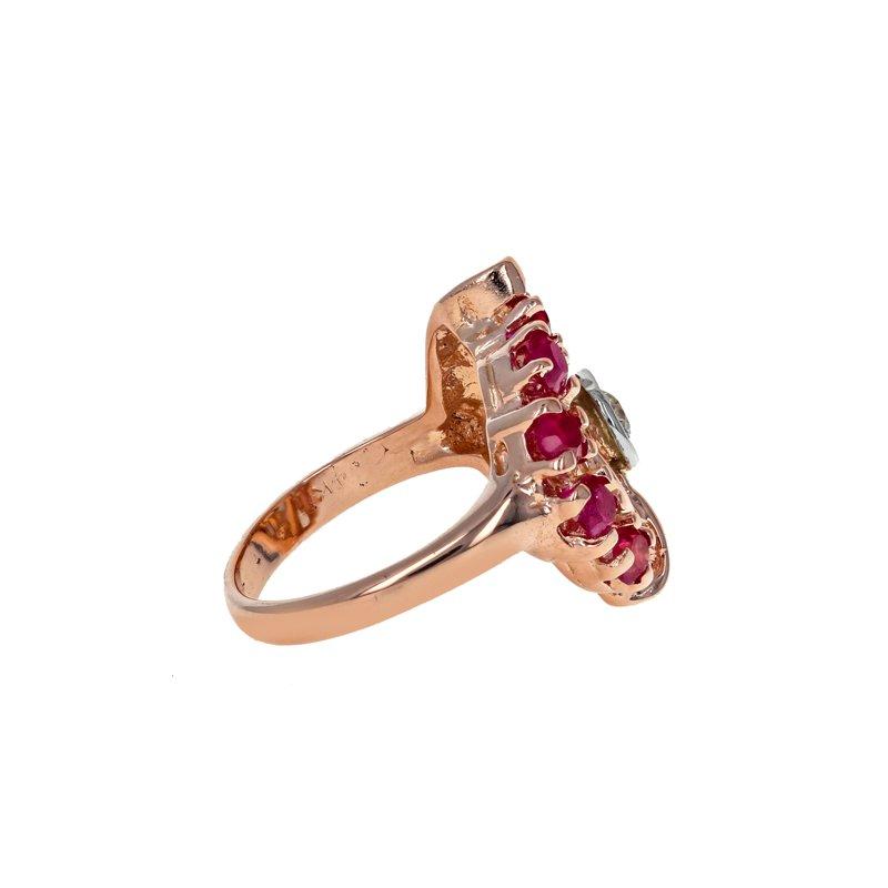 Estate Radcliffe 1940's Diamond & Ruby Ring