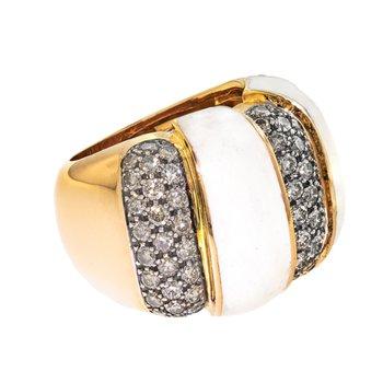 Brown Diamond & Enamel Ring
