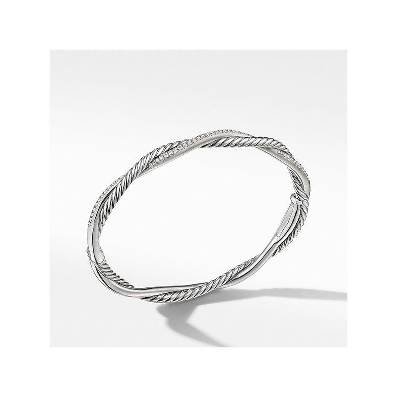 David Yurman Petite Infinity Bracelet with Pave Diamonds