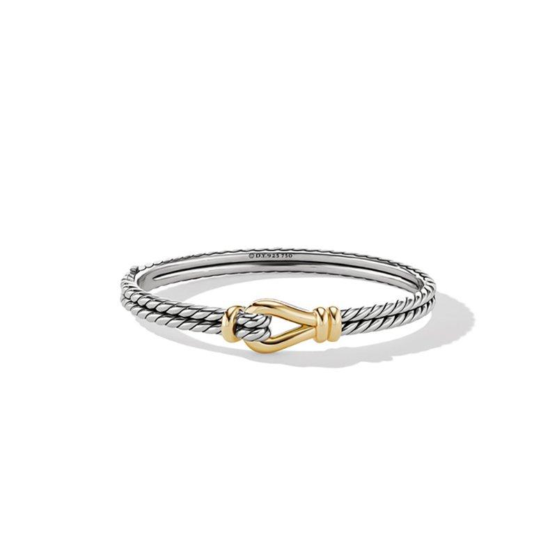 David Yurman Thoroughbred Loop Bracelet with 18K Yellow Gold