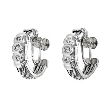 Diamond Cable Earrings