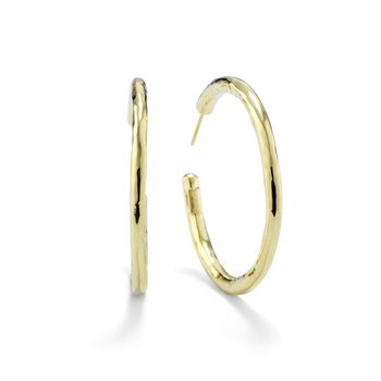 Classico Medium Hammered Hoop Earrings