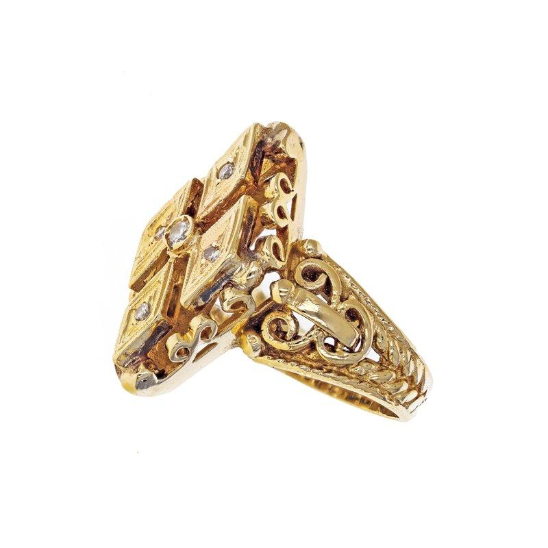 Estate Radcliffe Diamond Shield Ring
