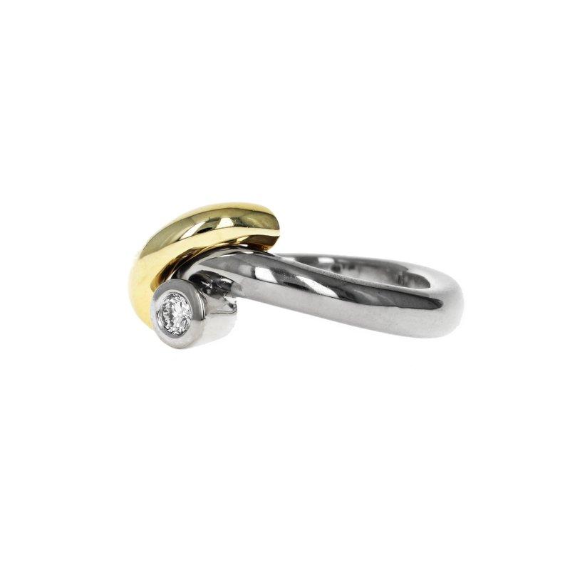 Estate Radcliffe Asymmetrical Two-Tone Diamond Ring