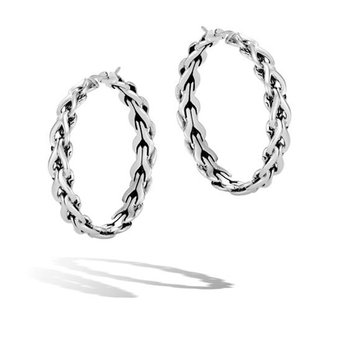 Asli Classic Chain Link Medium Hoop Earrings