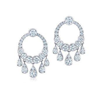 Eclipse Dangle Earrings with Diamonds