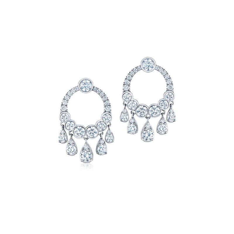 Kwiat Eclipse Dangle Earrings with Diamonds