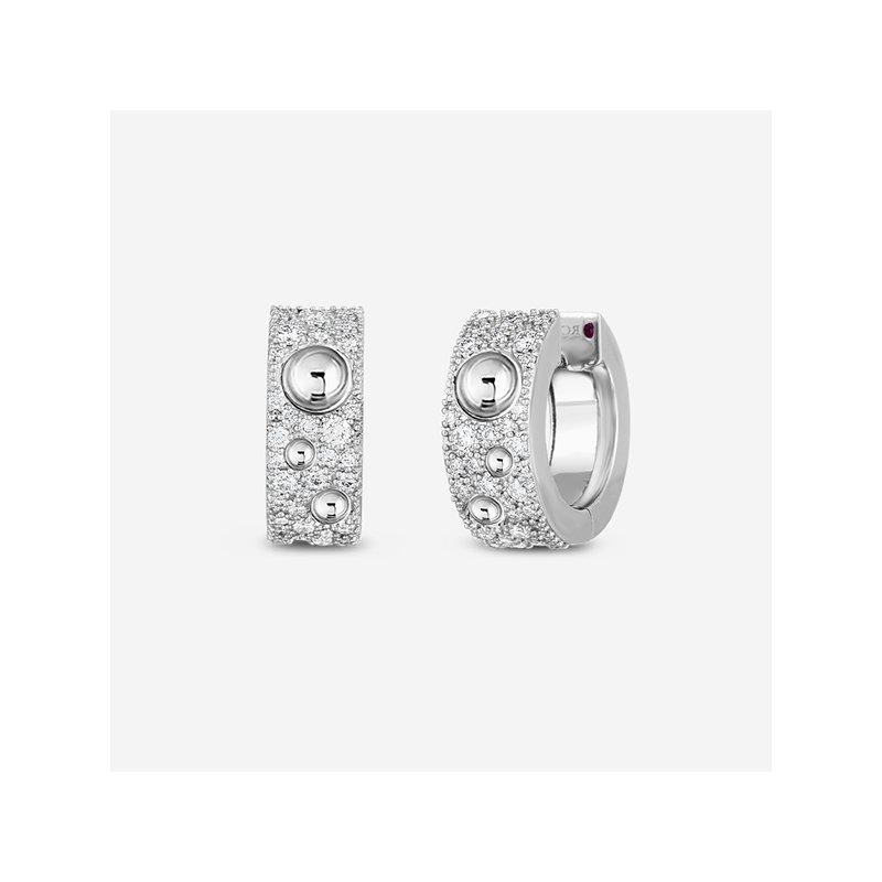 Roberto Coin Pave Pois Moi Luna Earrings