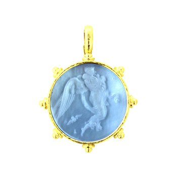 "Cerulean ""Angel with Child"" Pendant"