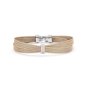 Carnation Cable Petite Bow Bracelet