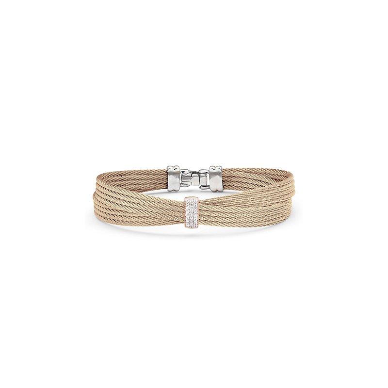 ALOR Carnation Cable Petite Bow Bracelet