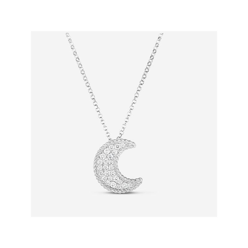Roberto Coin Crescent Moon Pendant