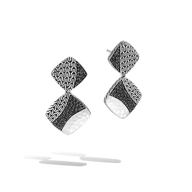 John Hardy Classic Chain Hammered Drop Earrings