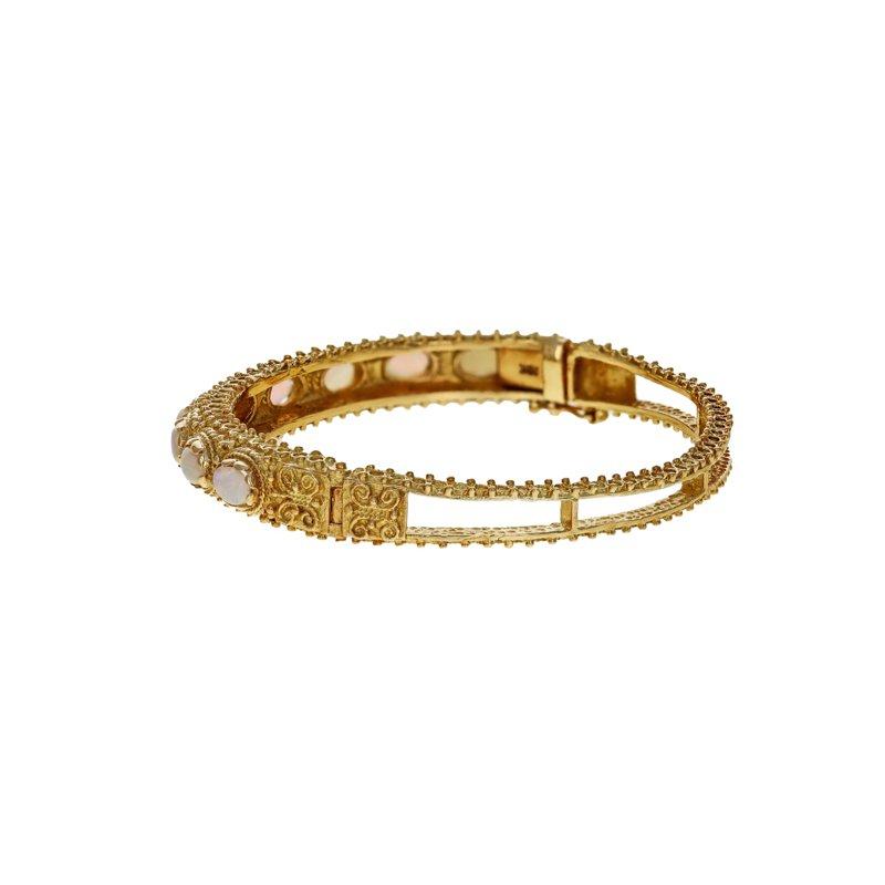 Estate Radcliffe Beaded Opal Bangle Bracelet
