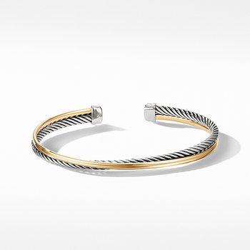 Crossover Bracelet with 18K Gold