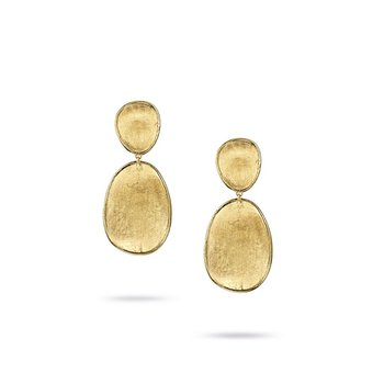 Lunaria Collection 18K Yellow Gold Small Double Drop Earrings