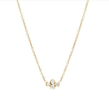 Horizontal Quad Diamond Necklace