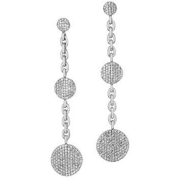 Triple Infinity Chain Earrings