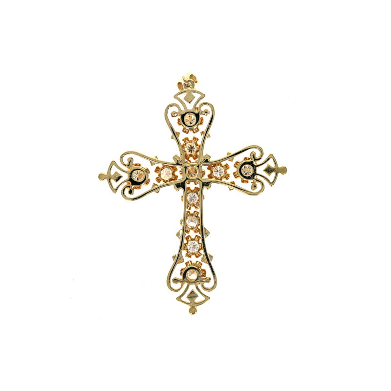 Estate Radcliffe Large Diamond Cross Pendant