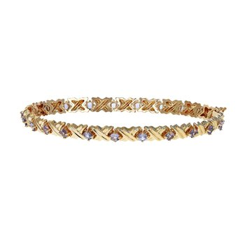 "Tanzanite ""X"" Link Bracelet"