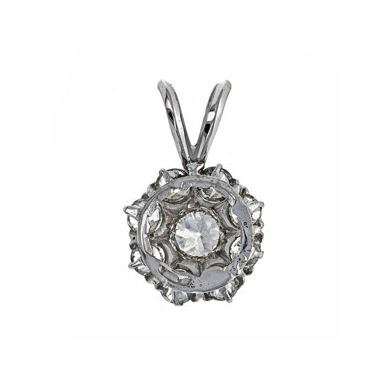 Estate Radcliffe Diamond Flower Pendant