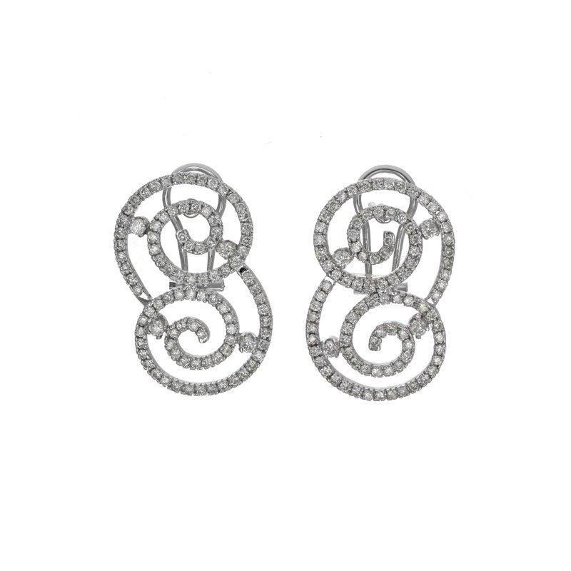 Estate Radcliffe Diamond Swirl Earrings