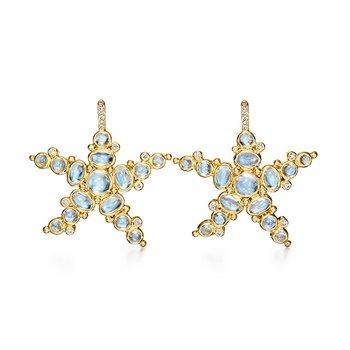 Blue Moon Sea Star Earrings