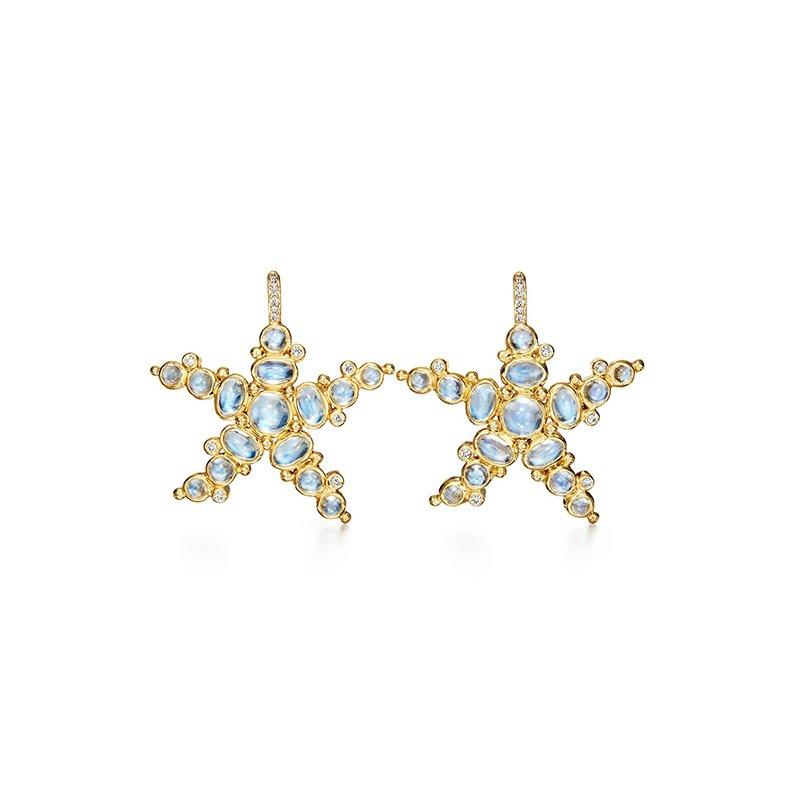 Temple St. Clair Blue Moon Sea Star Earrings