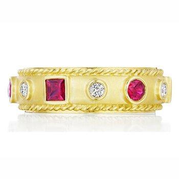 Amulet Diamond & Ruby Ring