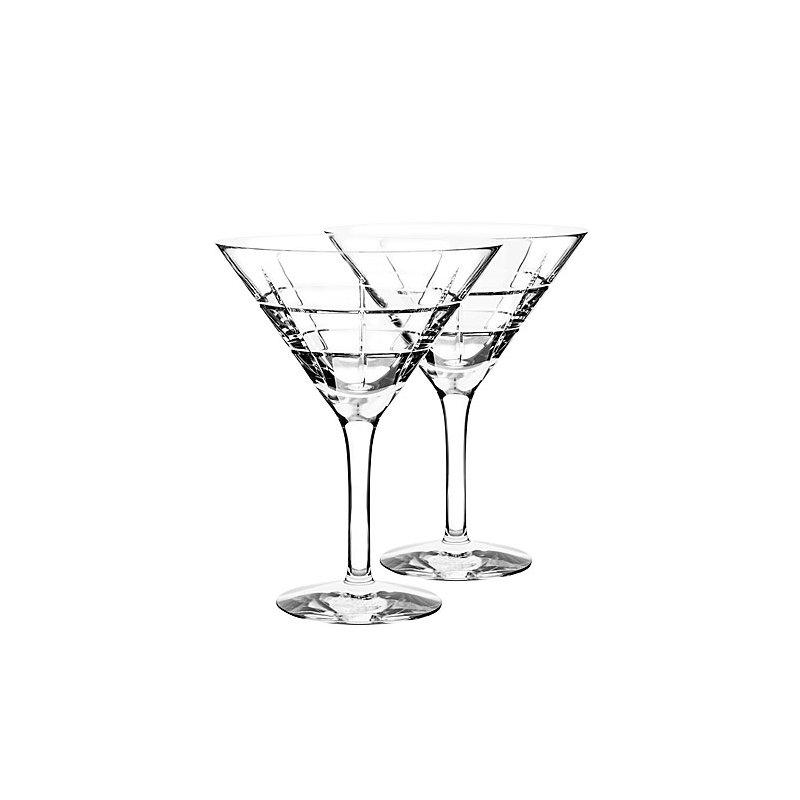 Kosta Boda Street Martini Glass-Set of 2
