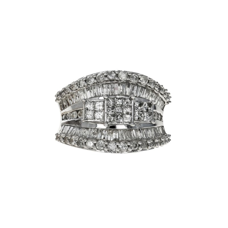 Estate Radcliffe Concave Diamond Cluster Ring