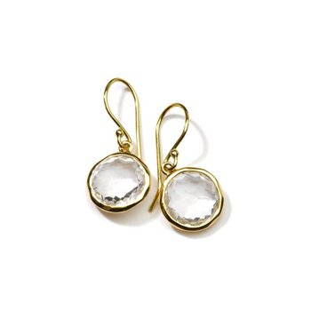 Small Single Drop Earrings in 18K Gold