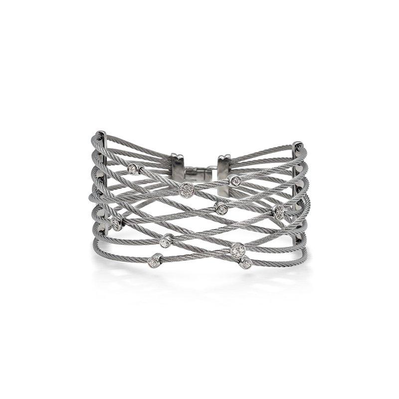 ALOR Grey Cable Constellation Bracelet