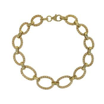 Oval Mesh Link Bracelet