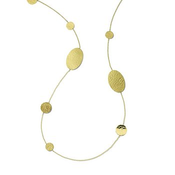 Classico Crinkle Hammered Necklace