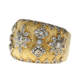 Buccelati Inspired Diamond Ring