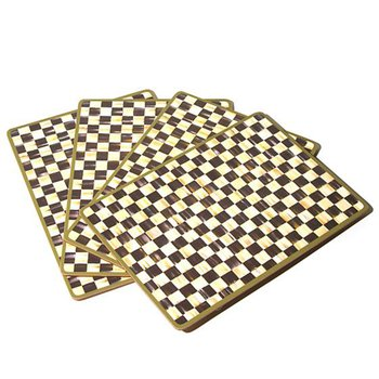Courtly Check Cork Backed Placemats-Set of 4